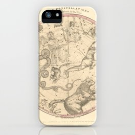 The Northern Constellations for Each Month of the Year (1856) iPhone Case
