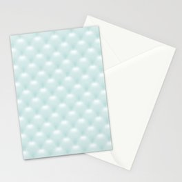 Quilted Soft Aqua Design Stationery Cards
