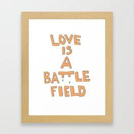 love ISA Battlefield Framed Art Print