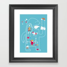 MY FAVOURITE DRINK Framed Art Print