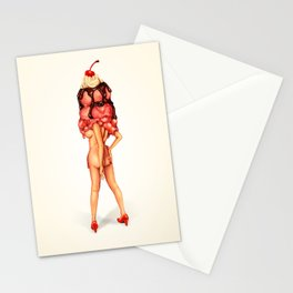 Ice Cream Girl 3 Stationery Cards