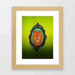 Wolf Portrait Framed Art Print