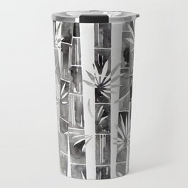 BLACK AND WHITE BAMBOOS Travel Mug