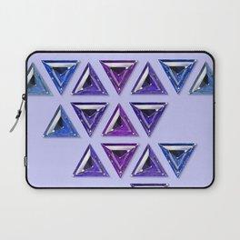 Cool Tones Gradient Trillion Pattern Laptop Sleeve