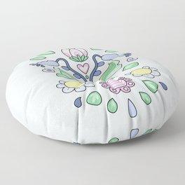 Cartoon Kurbits - Flower Tapestry Floor Pillow