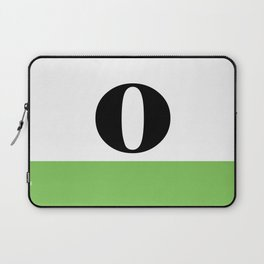 Monogram Letter O (color block) Laptop Sleeve