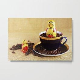 Russian coffee kitchen image Metal Print