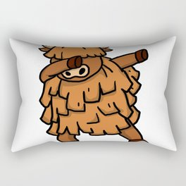 Funny Dabbing Yak Dab Dance Cattle Lover Gift Rectangular Pillow
