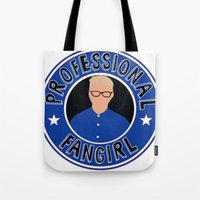 fangirl Tote Bags featuring Professional Fangirl by BethTheKilljoy