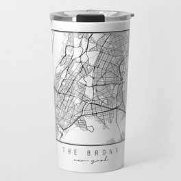 The Bronx New York Street Map Travel Mug