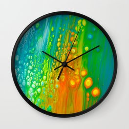 Aqua orange Wall Clock