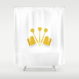 Darts Beer Gift Darts Player Beer Lover Shower Curtain