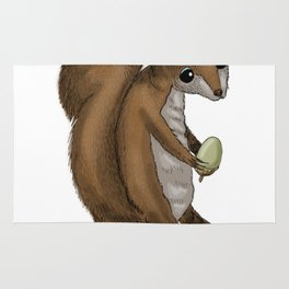 you drive me nuts! - Squirrel design Rug