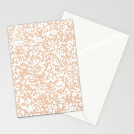 Small Spots - White and Desert Sand Orange Stationery Cards