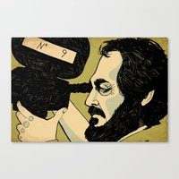 kubrick Canvas Prints featuring kubrick by Le Butthead