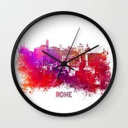 Rome skyline Wall Clock