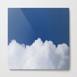 Semi-cloudy Day - Fluffy White Cumulus On The Blue Sky #decor #society6 #buyart Metal Print