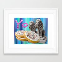 cookies Framed Art Prints featuring COOKIES! by Aldo Couture