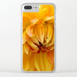 Dahlia Sun Clear iPhone Case