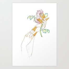 Bugle Manicure Art Print