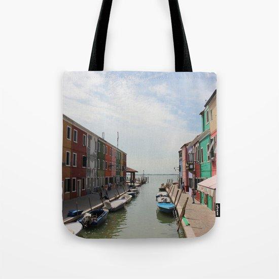 Burano in Venezia Tote Bag