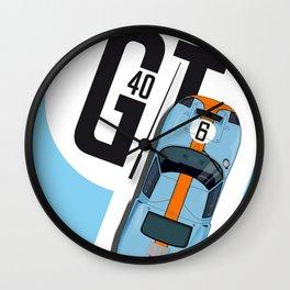 GT40 Le Mans 1968 Rodriguez-Bianchi Wall Clock