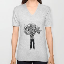 lilac and cones Unisex V-Neck