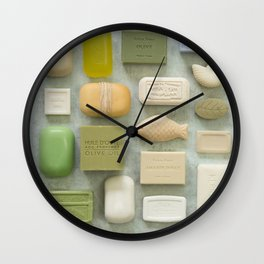 Soap Collection Spa Wellness Photography Wall Clock