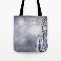 buddha Tote Bags featuring Buddha by LebensART Photography