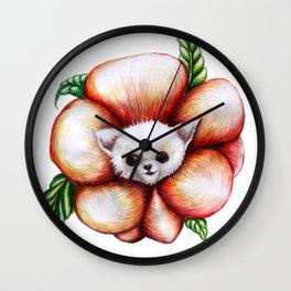 chihuahua poppy Wall Clock