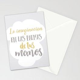 La imaginación está en las palmas de tus manos Stationery Cards