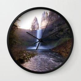 Sun Star Over South Falls Wall Clock