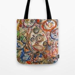 Faces Faces Tote Bag