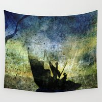 trip Wall Tapestries featuring Charon Trip / Strange Trip by Menchulica