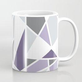 Geometric Pattern in purple and gray Coffee Mug
