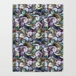 Renaissance Cherub Toss in Jewel Tones Poster