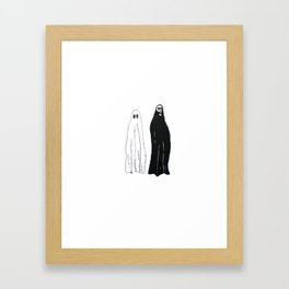 ghost and death Framed Art Print