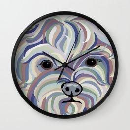 Yorkie Denim Colors Wall Clock