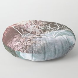 River Triangulation Floor Pillow