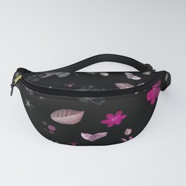 Pink Flowers & White Roses Fanny Pack