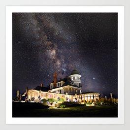 Castle Hill Under The Milky Way Newport RI Art Print