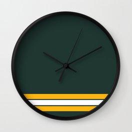 Green bay graphic Wall Clock