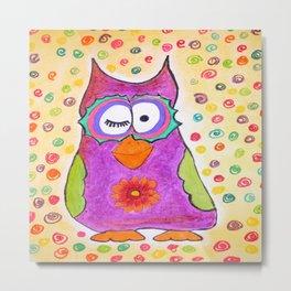 Crazy owl 01 Metal Print