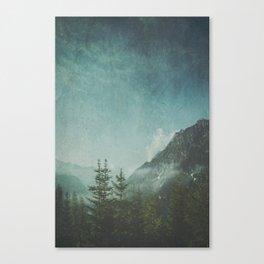 Misty Wilderness - Italian Alps Canvas Print