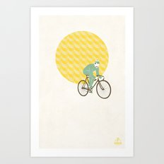 Stache with Sunrise Art Print