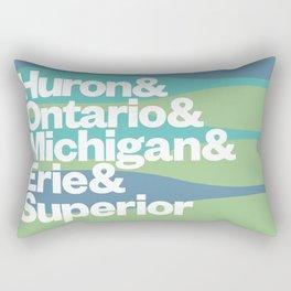 Great Lakes Ampersand Rectangular Pillow