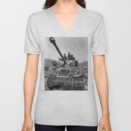 M1 Tank in Korea Unisex V-Neck