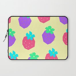 Strawberry Illustration Fruit Pattern - Words for a Lovely Couple from Colorful Strawberries Laptop Sleeve