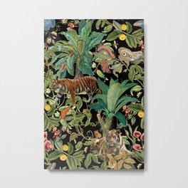 TIGER IN THE DARK JUNGLE Metal Print