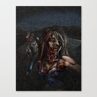 zombies Canvas Prints featuring Zombies!! by Shyniester